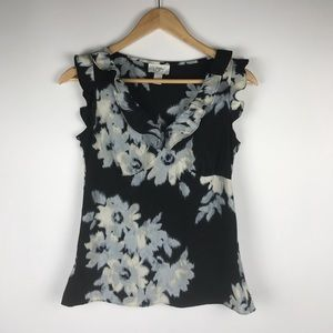 Ann Taylor Loft Ruffled Sleeveless Blouse Size 2